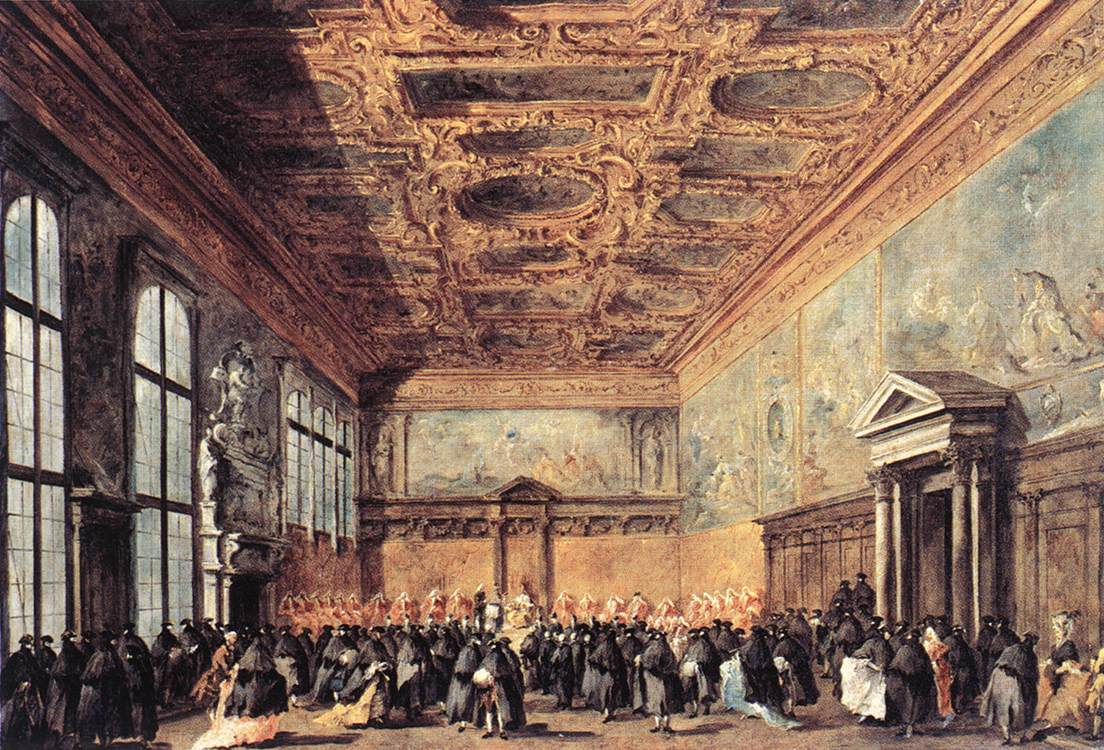 Audience Granted By The Doge 1766-70 | Francesco Guardi | Oil Painting