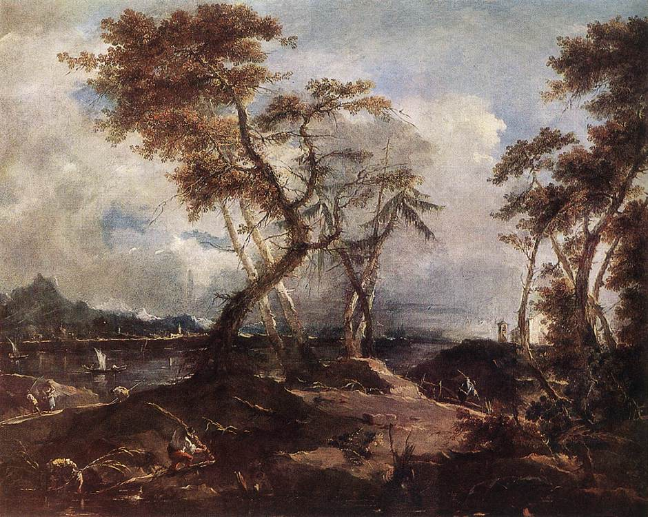 Landscape 1780 | Francesco Guardi | Oil Painting