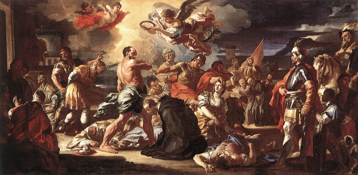 The Martyrdom Of Sts Placidus And Flavia 1697-1708 | Francesco Solimena | Oil Painting