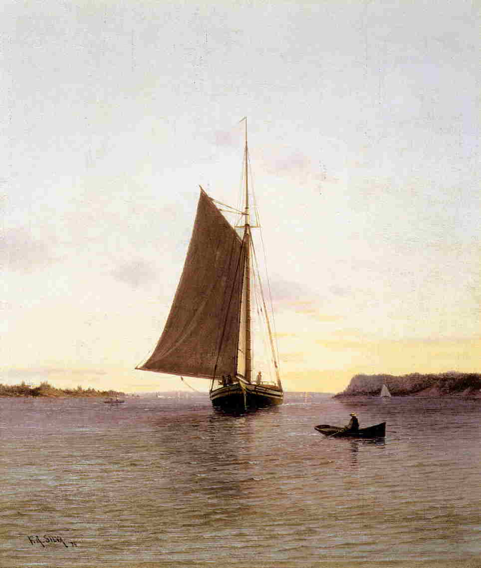 View on the Hudson River  1876 | Francis A Silva | Oil Painting