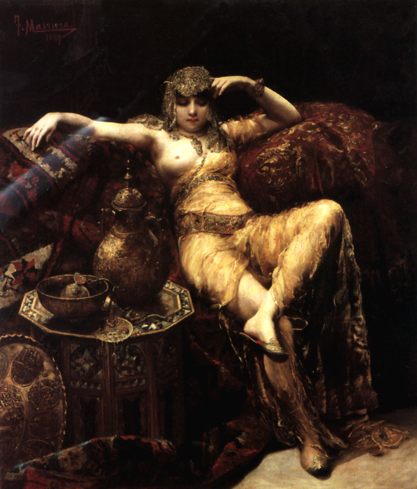 A Harem Beauty   Francisco Masriera Y Manovens   Oil Painting