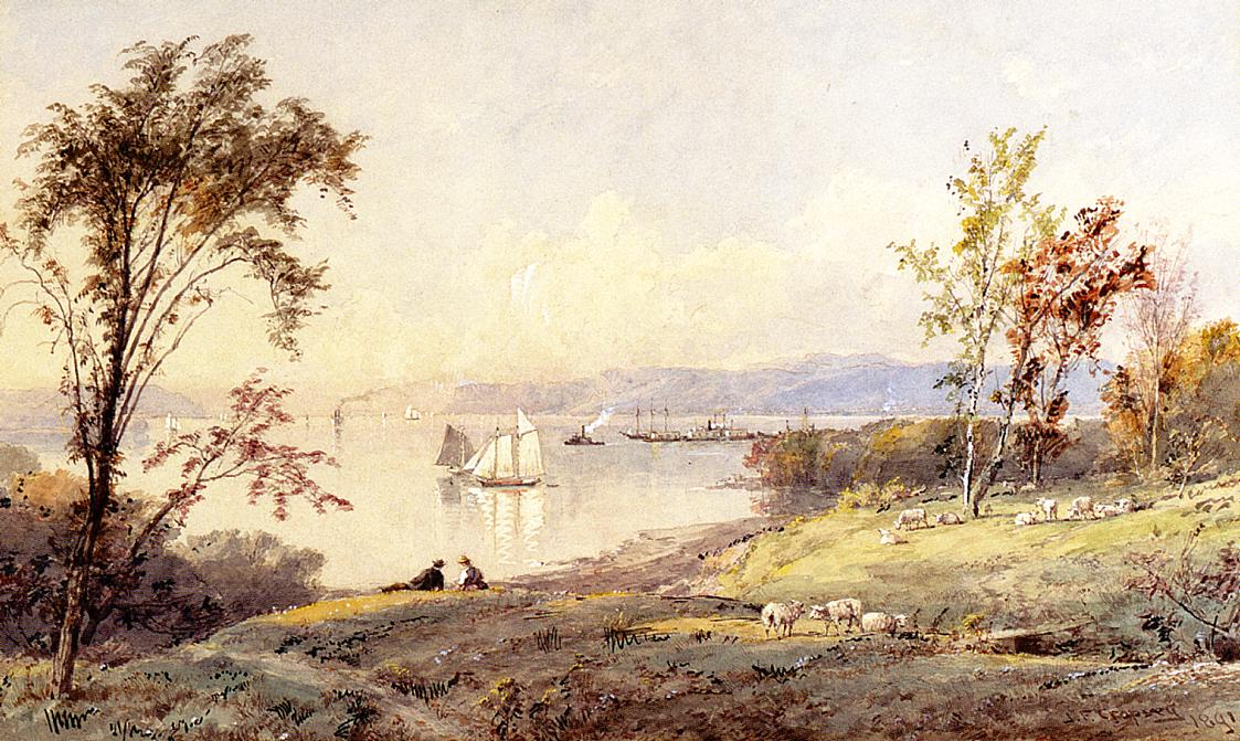 Along the Hudson 1891 | Francis Jasper Cropsey | Oil Painting