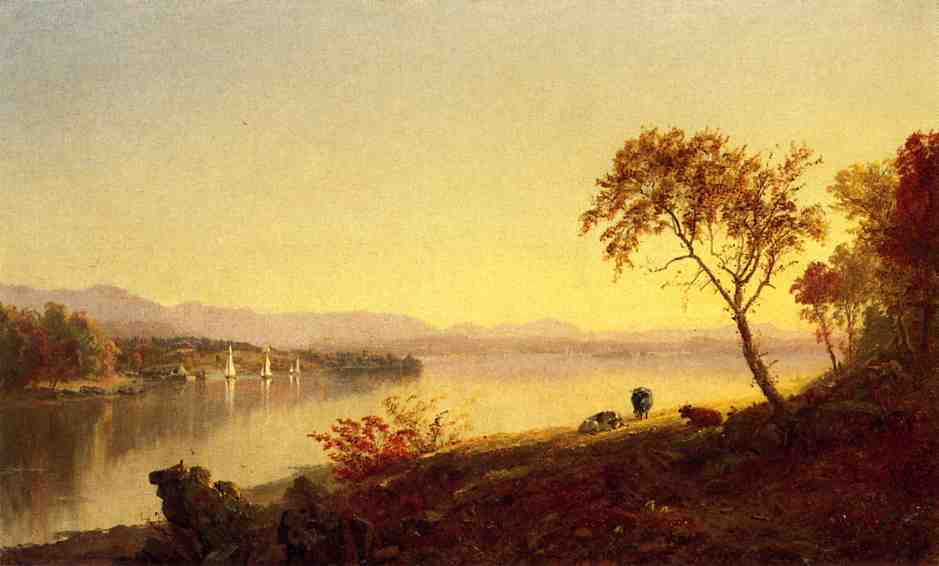 Along the River 1871 | Francis Jasper Cropsey | Oil Painting