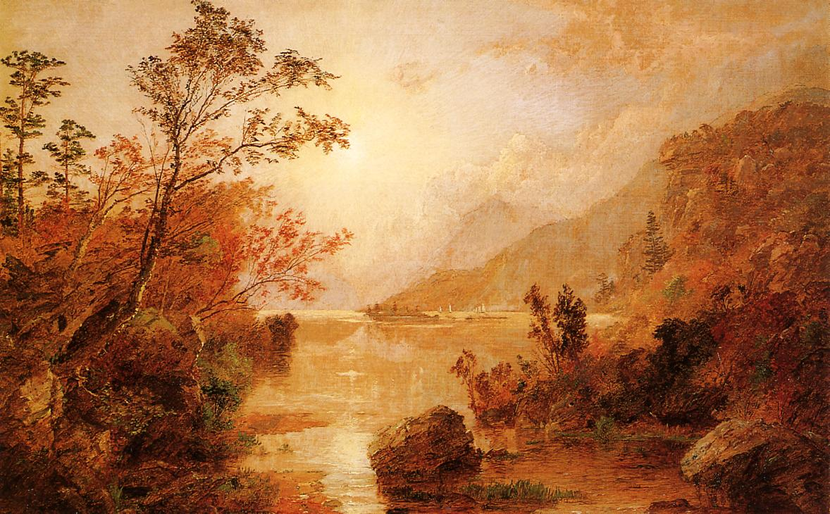 Autumn in the Highlands of the Hudson 1896 | Francis Jasper Cropsey | Oil Painting