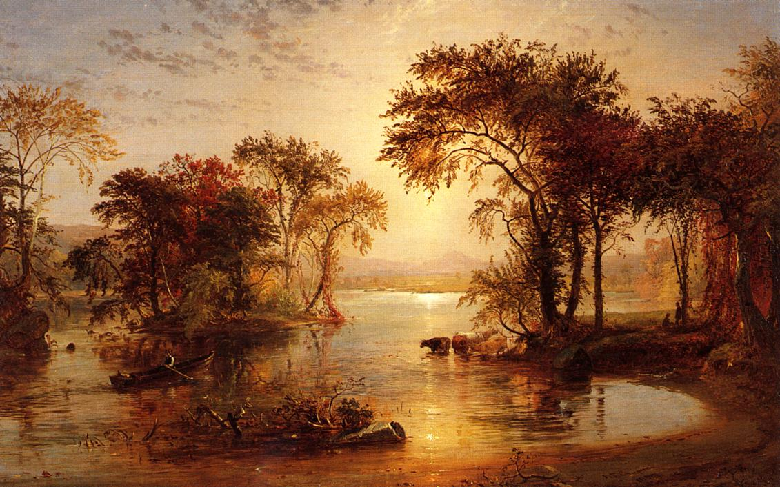 Autumn on thw Susquehanna 1859 | Francis Jasper Cropsey | Oil Painting