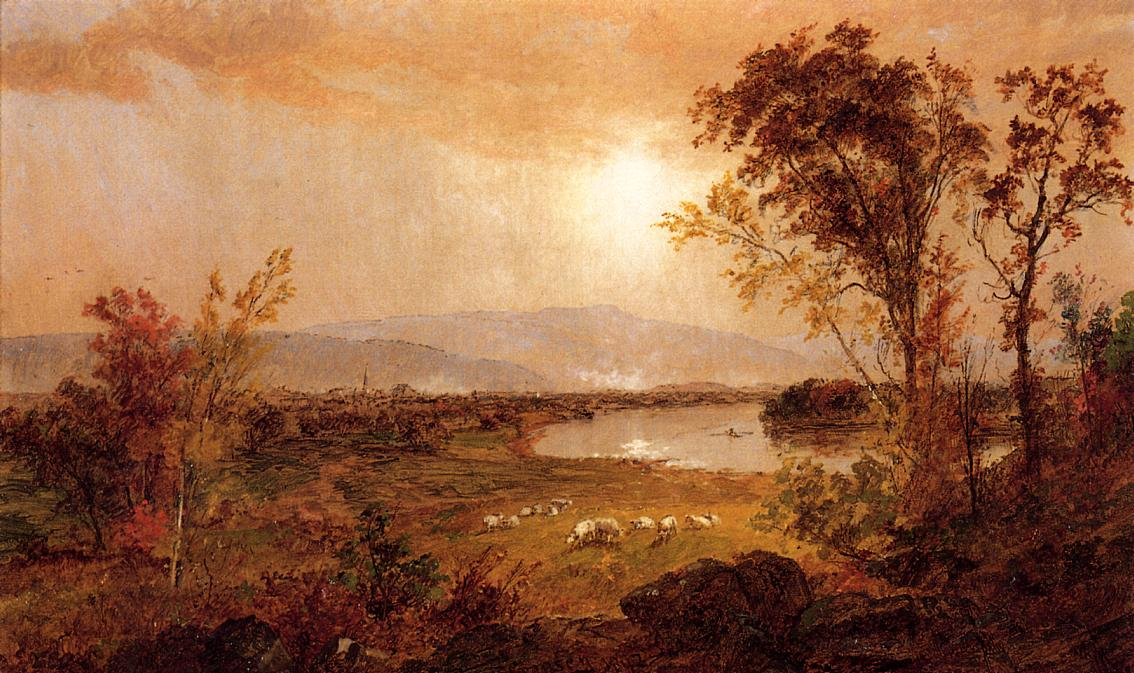 A Bend in the River 1892 | Francis Jasper Cropsey | Oil Painting