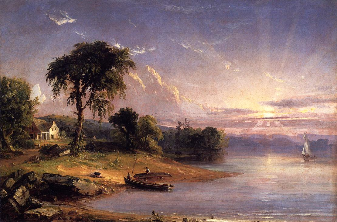 Boat Caulking on Greenwood Lake 1852 | Francis Jasper Cropsey | Oil Painting