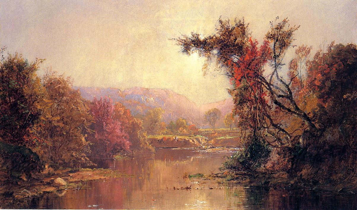 By the River 1875 | Francis Jasper Cropsey | Oil Painting
