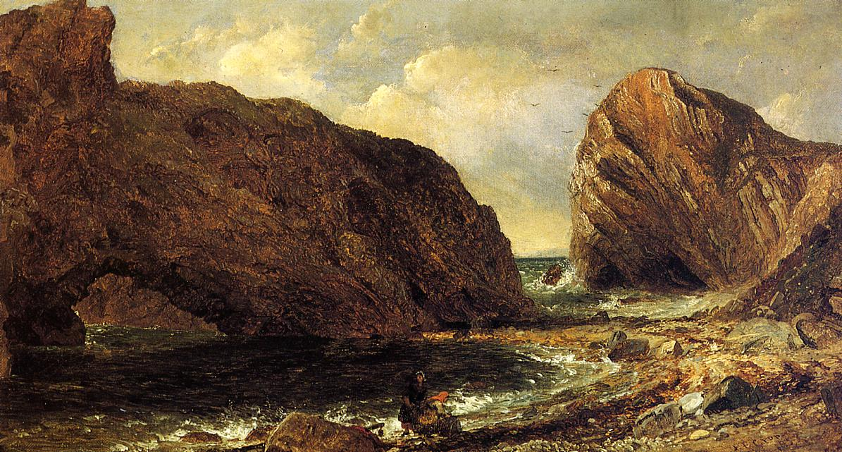 By the Sea Lulworth 1857 | Francis Jasper Cropsey | Oil Painting