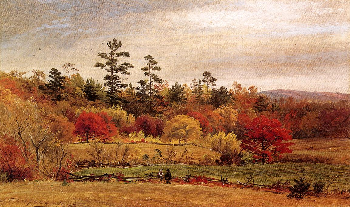 Conversation at the Fence 1873 | Francis Jasper Cropsey | Oil Painting