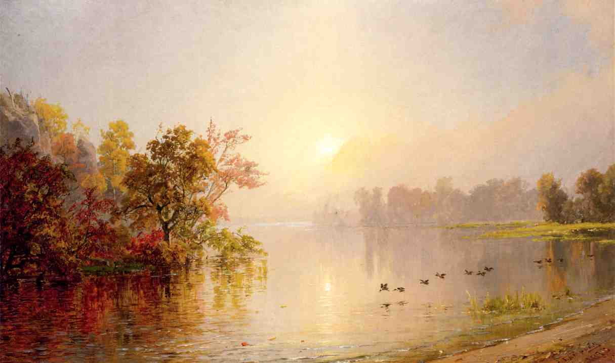 Hazy Afternoon Autumn 1873 1873   Francis Jasper Cropsey   Oil Painting