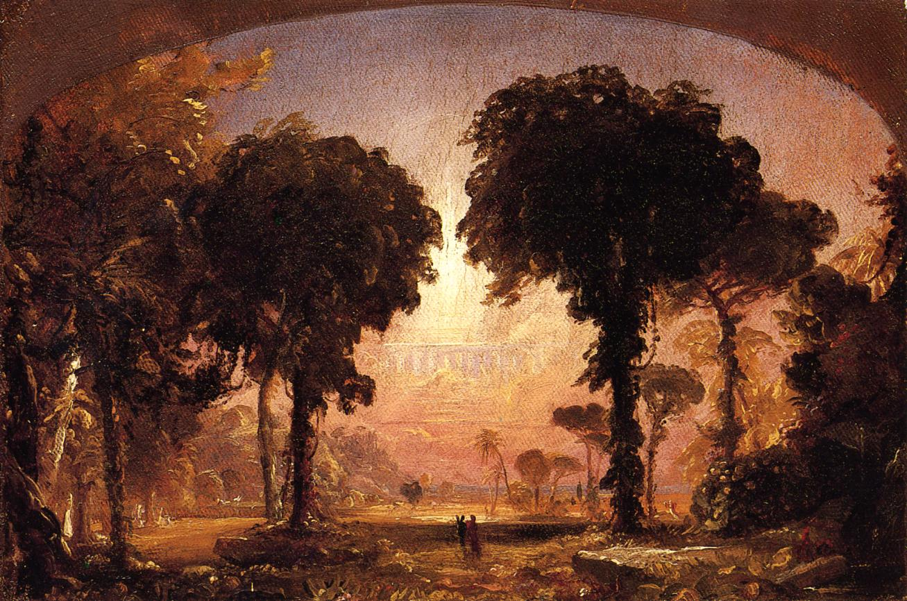 Ideal Landscape Homage to Thomas Cole 1850 | Francis Jasper Cropsey | Oil Painting