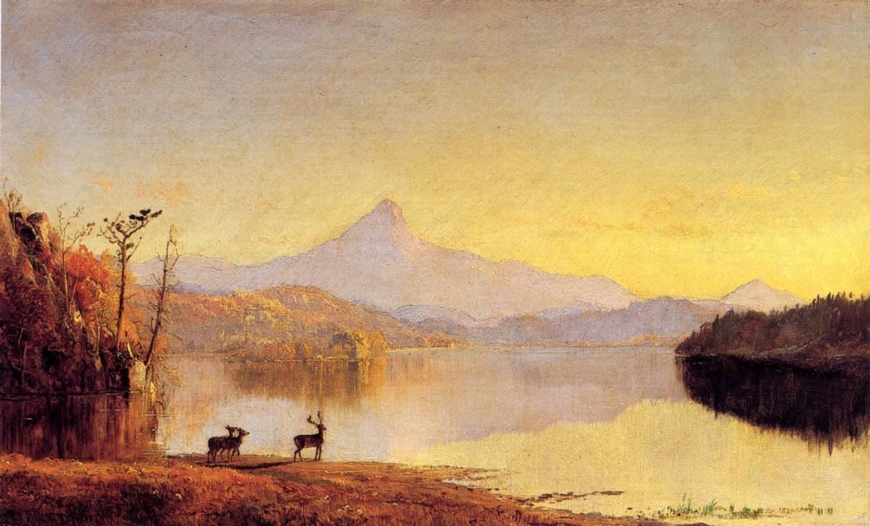 Lake Scene Mount Chocorua 1875 | Francis Jasper Cropsey | Oil Painting