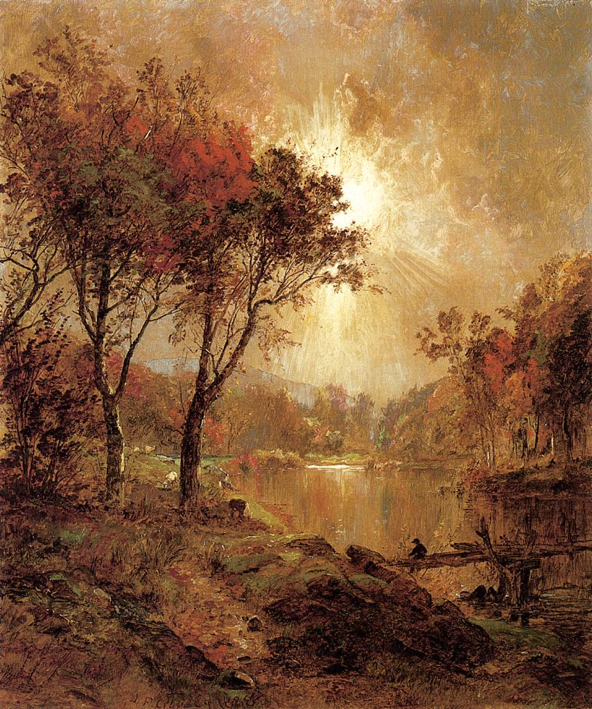 On the Ramapo River 1888   Francis Jasper Cropsey   Oil Painting