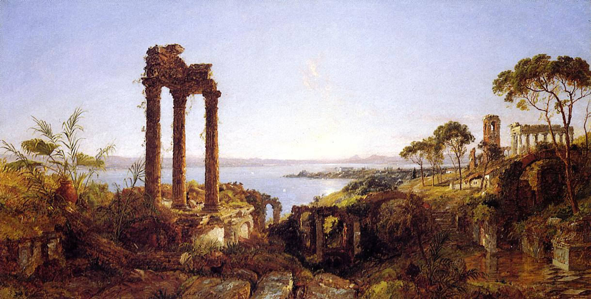 Overlookig the Bay of Naples 1883 | Francis Jasper Cropsey | Oil Painting