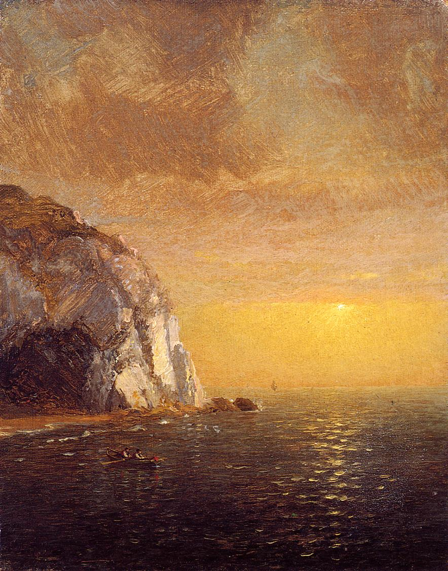Rowing at Sunset 1873 | Francis Jasper Cropsey | Oil Painting