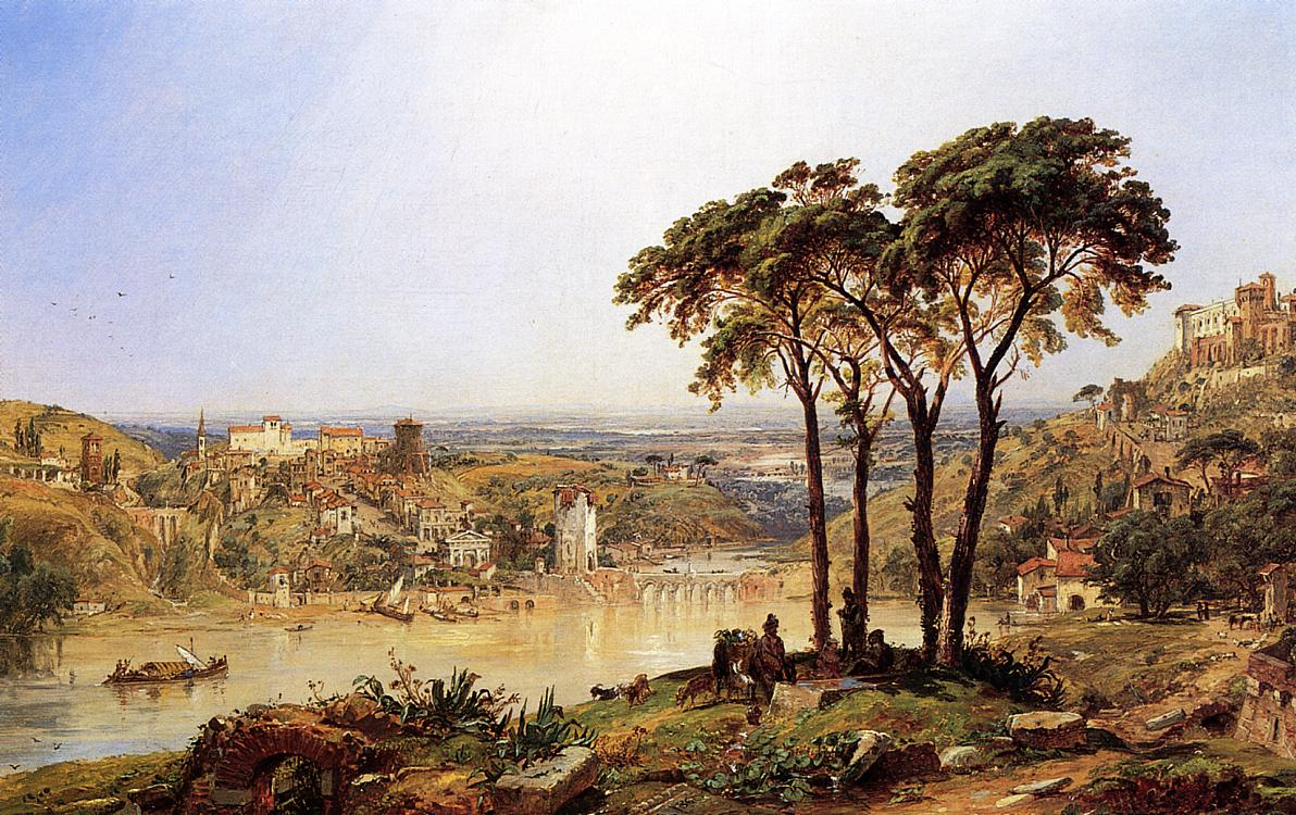 Summer Noonday on the Arno 1860 | Francis Jasper Cropsey | Oil Painting