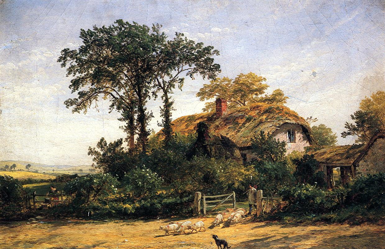 The Cottage of the Dairyman's Daughter 1859 | Francis Jasper Cropsey | Oil Painting