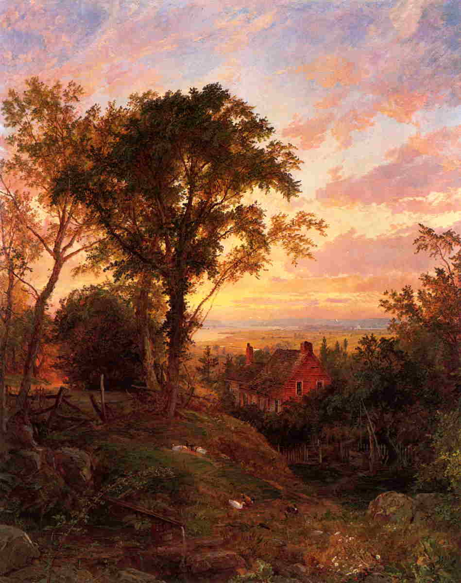 The Old Home 1884 | Francis Jasper Cropsey | Oil Painting