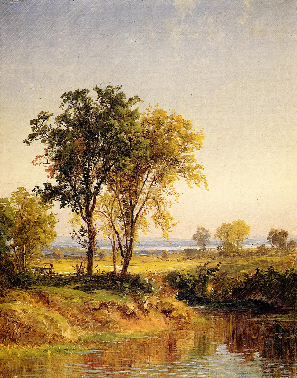 The Pond in Springtime 1879 | Francis Jasper Cropsey | Oil Painting
