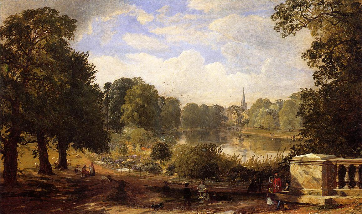 The Serptentine Hyde Park London 1858 | Francis Jasper Cropsey | Oil Painting