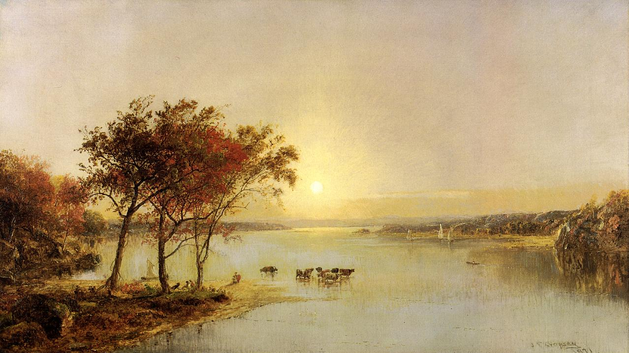 Upper Hudson 1871 | Francis Jasper Cropsey | Oil Painting