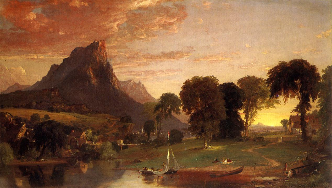 View near Sherburne Chenango County New York 1853 | Francis Jasper Cropsey | Oil Painting