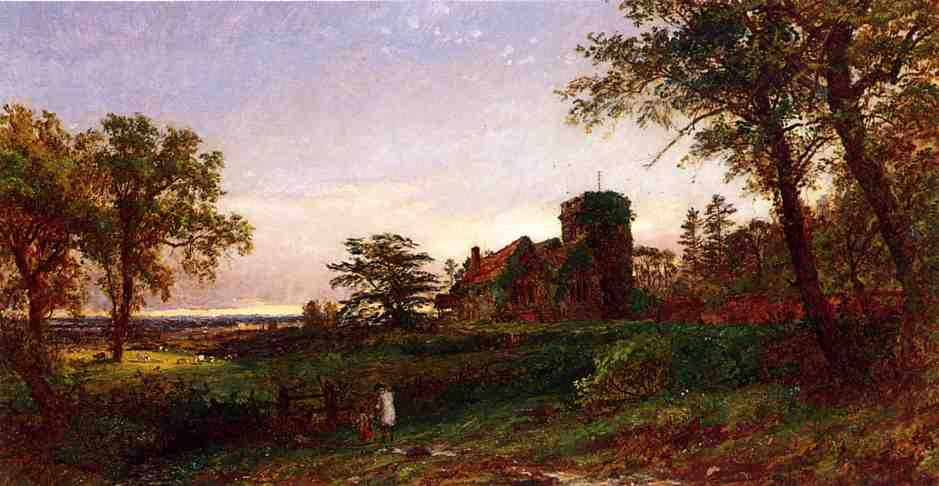 View of Stoke Poges 1886 | Francis Jasper Cropsey | Oil Painting