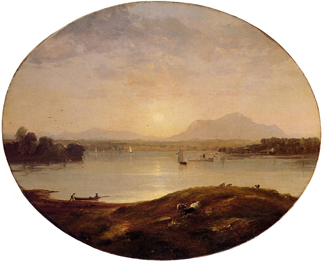 View on the Hudson 1852 | Francis Jasper Cropsey | Oil Painting