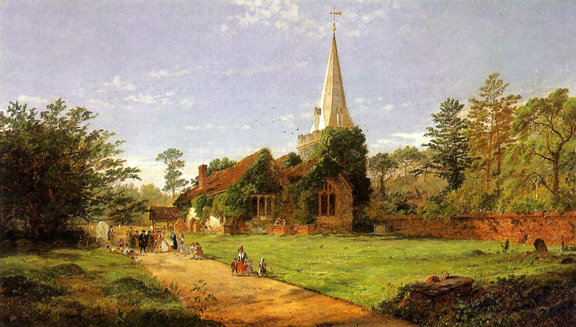 William Penn's Wedding 1870 | Francis Jasper Cropsey | Oil Painting