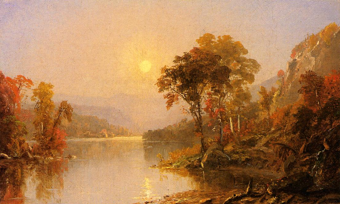 Winding River 1870 | Francis Jasper Cropsey | Oil Painting