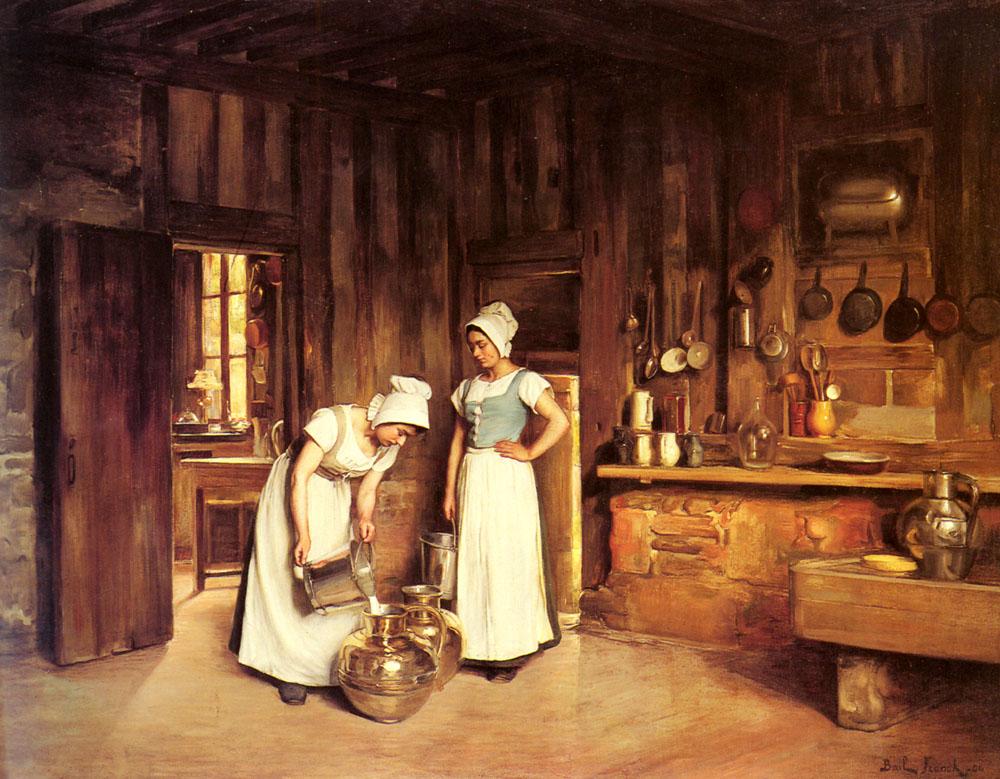 Two Milkmaids | Franck Antoine Bail | Oil Painting