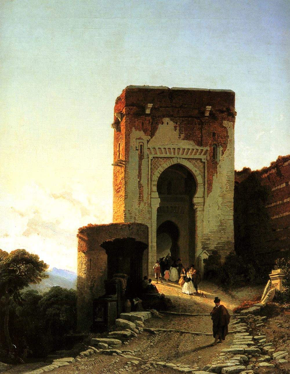 Porte de Justice   Francois Antoine Bossuet   Oil Painting