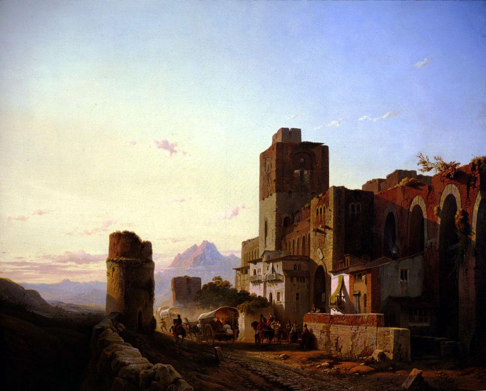 Spanish Town | Francois Antoine Bossuet | Oil Painting