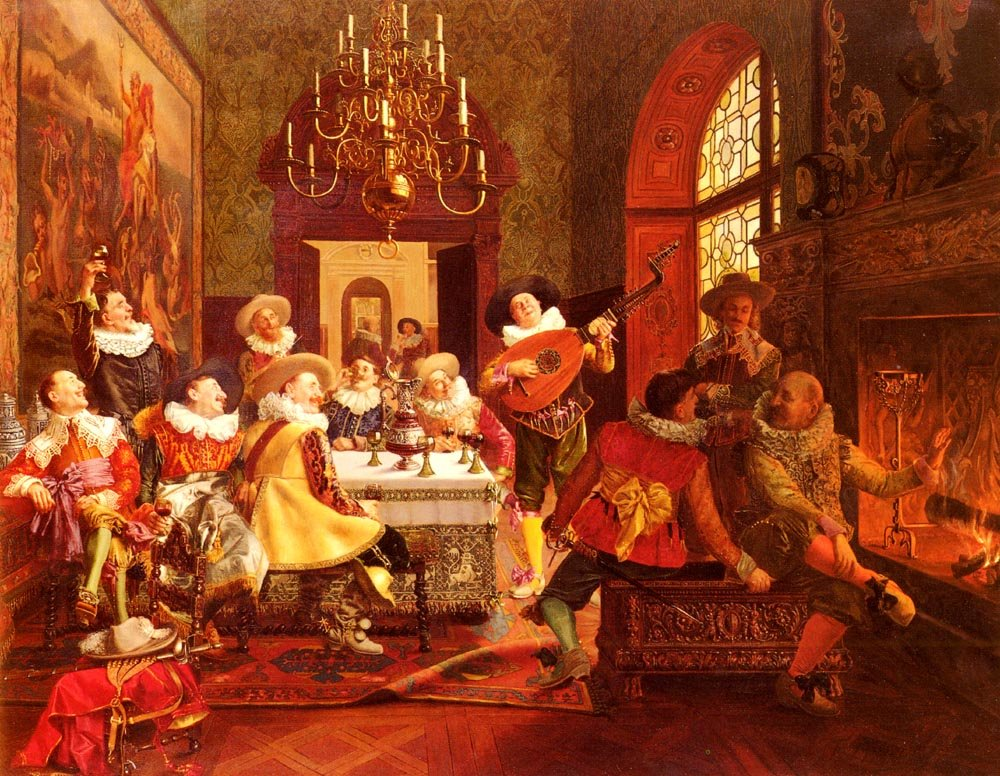 A Merry Melody | Francois Brunery | Oil Painting