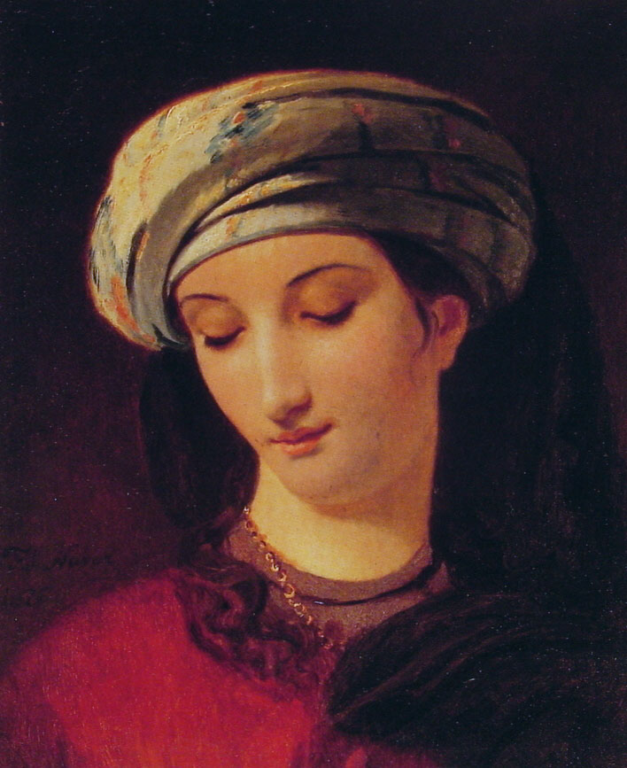 Portrait of A Woman with a Turban | Francois Joseph Navez | Oil Painting