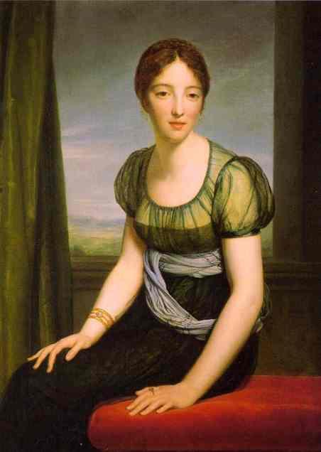 Portrait Of Countess Regnault De Saint Jean DAngely | Francois Pascal Simon Gerard | Oil Painting