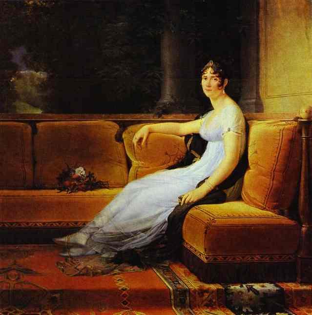 Portrait Of Josephine Wife Of Napoleon At Malmaison 1801 | Francois Pascal Simon Gerard | Oil Painting