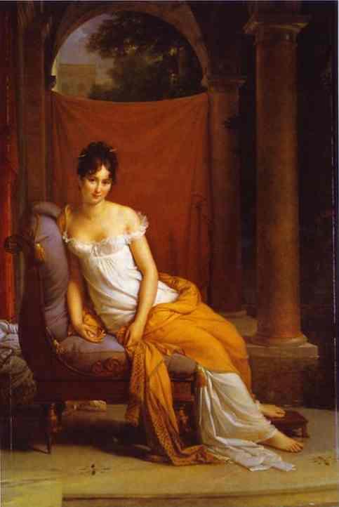 Portrait Of Juliette Recamier 1805 | Francois Pascal Simon Gerard | Oil Painting
