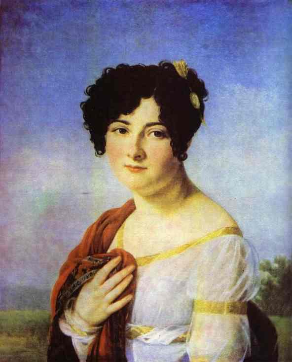 Portrait Of Y A Tatishcheva 1810s | Francois Pascal Simon Gerard | Oil Painting