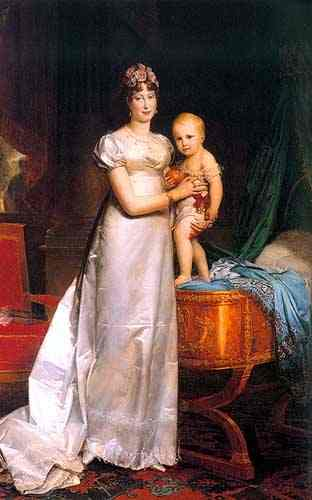 Marie Louise Empress Of France With Her Son Napoleon II King of Rome | Francois Pascal Simon Gerard | Oil Painting