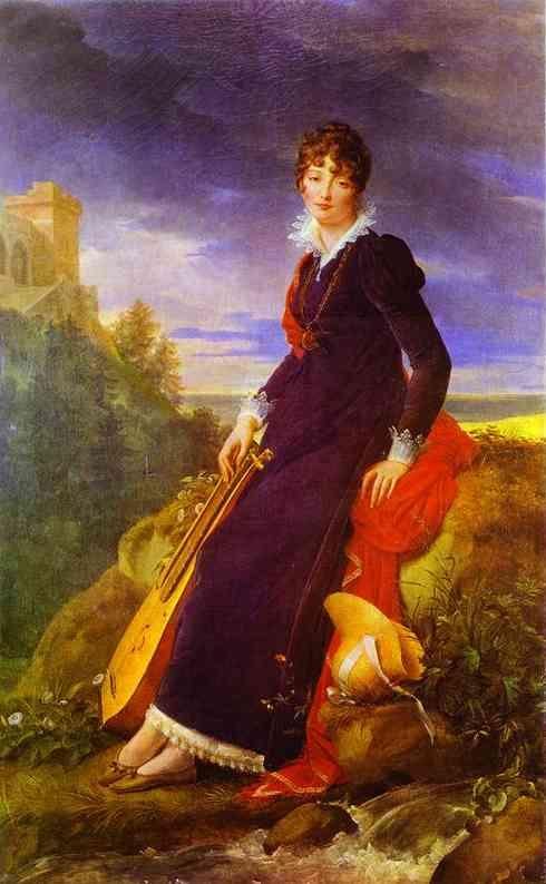 Portrait Of Catherine Starzenska 1803 | Francois Pascal Simon Gerard | Oil Painting