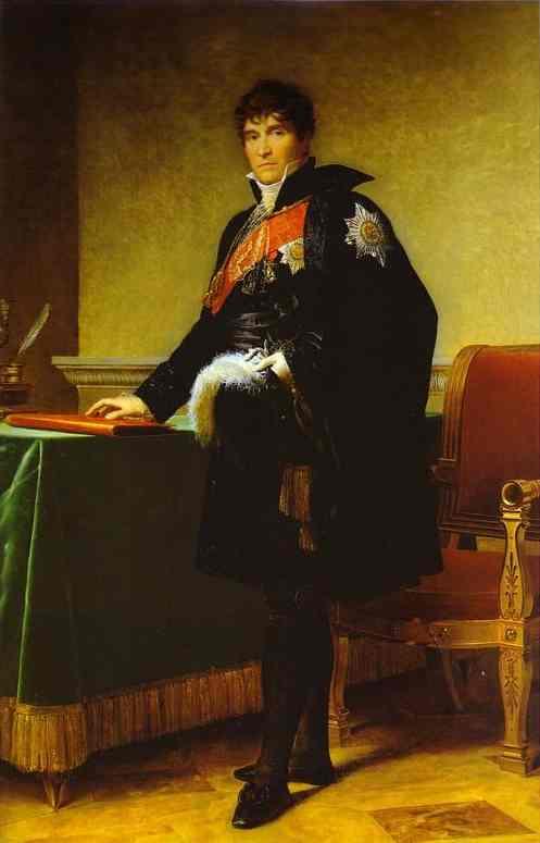 Portrait Of Count Reynault De Saint Jean Dangely 1808 | Francois Pascal Simon Gerard | Oil Painting