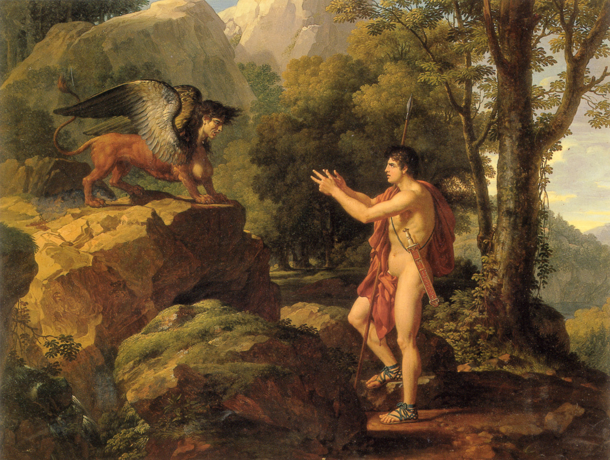 Oedipus and the Sphinx | Francois Xavier Fabre | Oil Painting