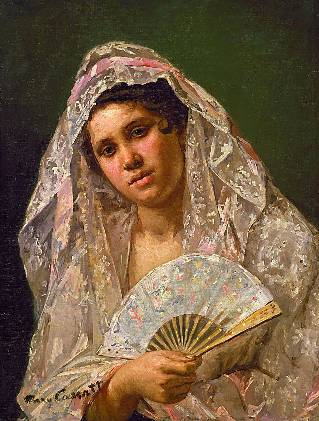 Spanish Dancer Wearing A Lace Mantilla 1873