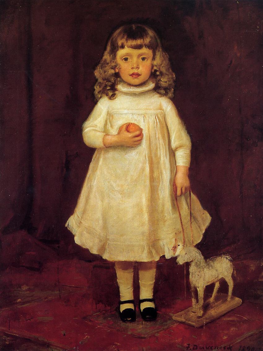 F B Duveneck as a Child 1890 | Frank Duveneck | Oil Painting