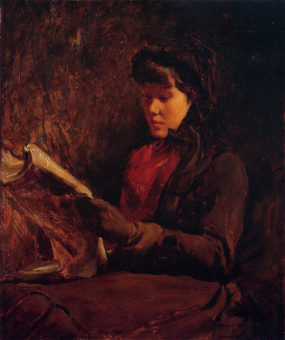 Girl Reading 1876 | Frank Duveneck | Oil Painting