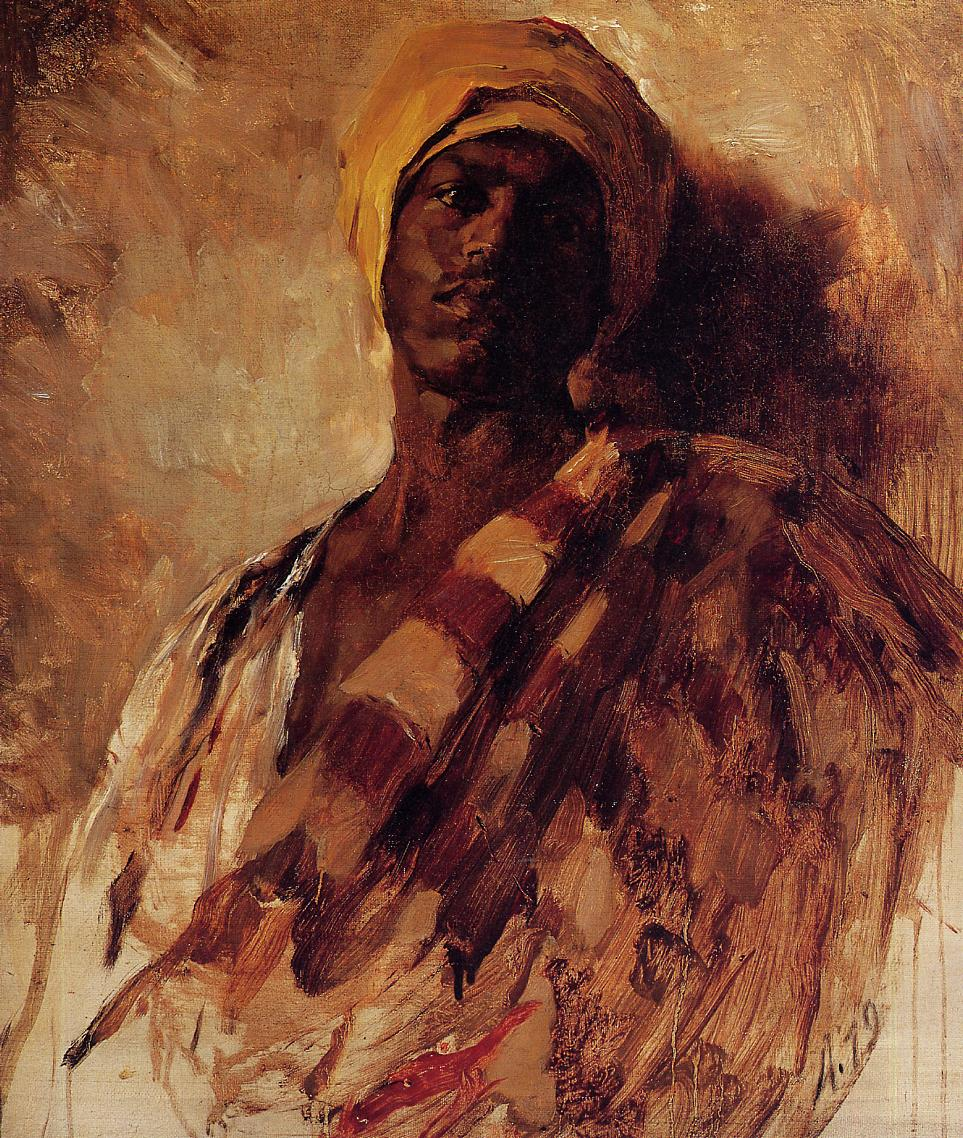 Guard of the Harem (study) 1879 | Frank Duveneck | Oil Painting