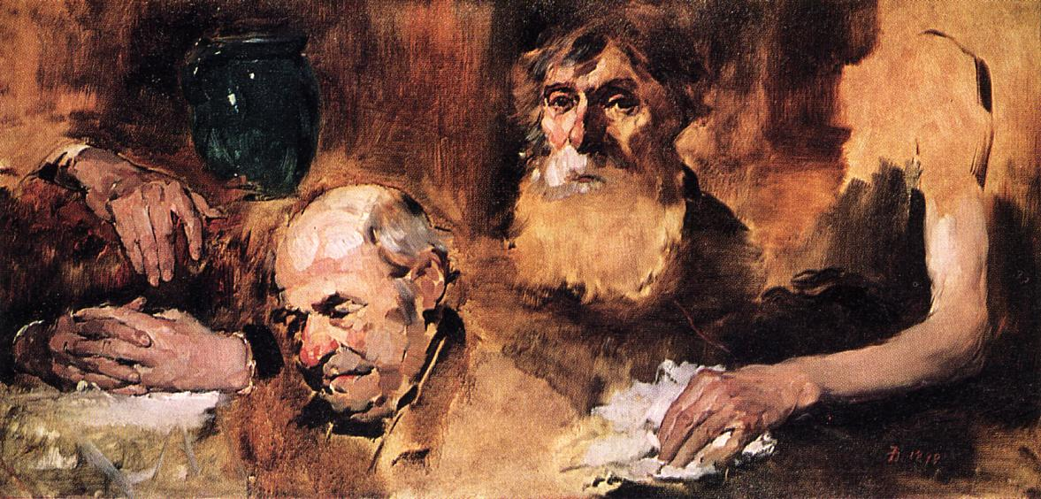 Heads and Hands (study) 1879 | Frank Duveneck | Oil Painting