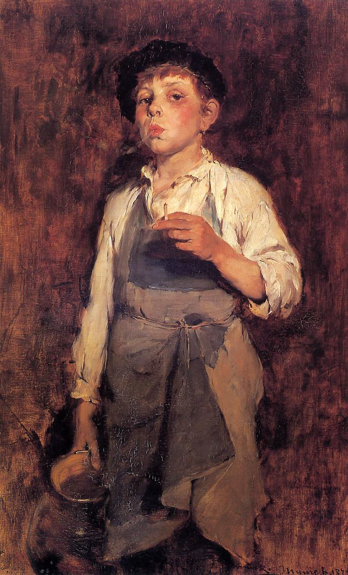 He Lives by His Wits 1878 | Frank Duveneck | Oil Painting